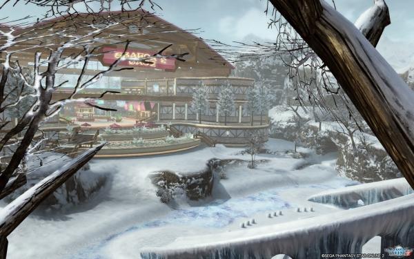 雪のカフェ
