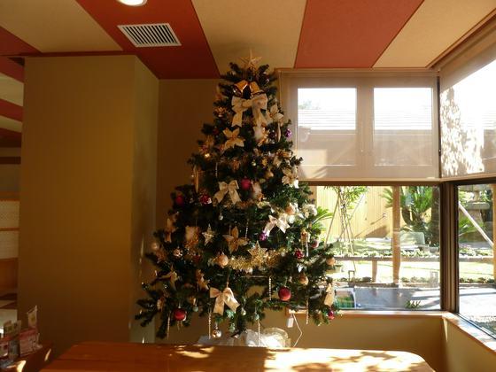 としまや月浜の湯ロビーに飾られていたクリスマスツリー(2013)