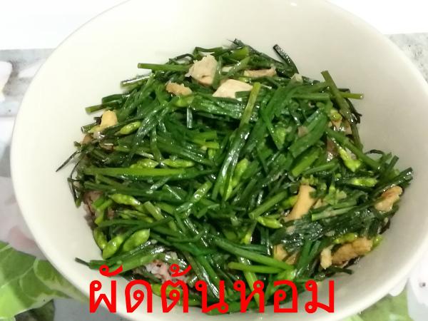 ผัดต้นหอม タイ料理
