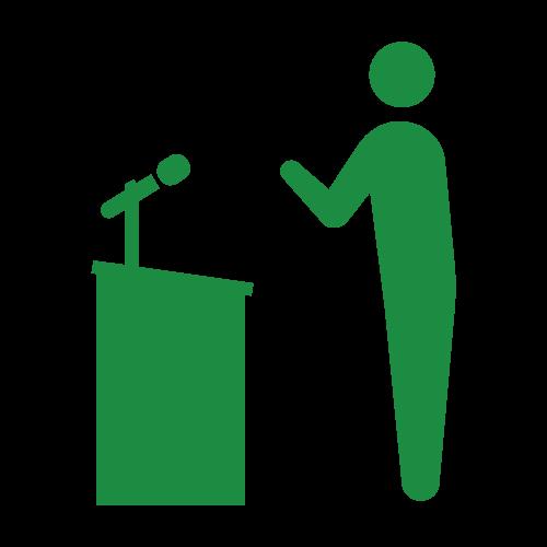 政治家 または壇上の演説