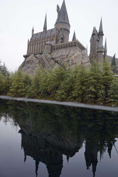 水面に映るお城