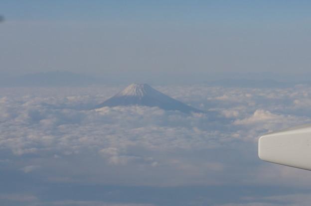 帰りの飛行機からも富士山が見えました