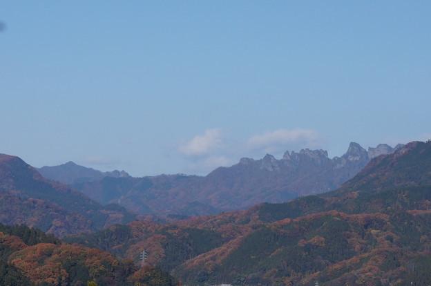 妙義山と紅葉