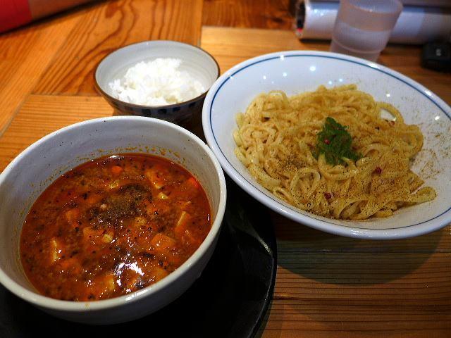 麺や 清流@02スパンキー麻婆カレー清湯つけ麺 1