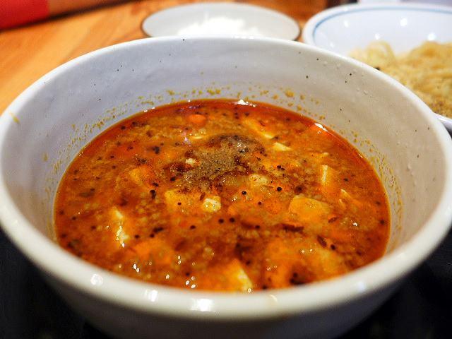 麺や 清流@02スパンキー麻婆カレー清湯つけ麺 3