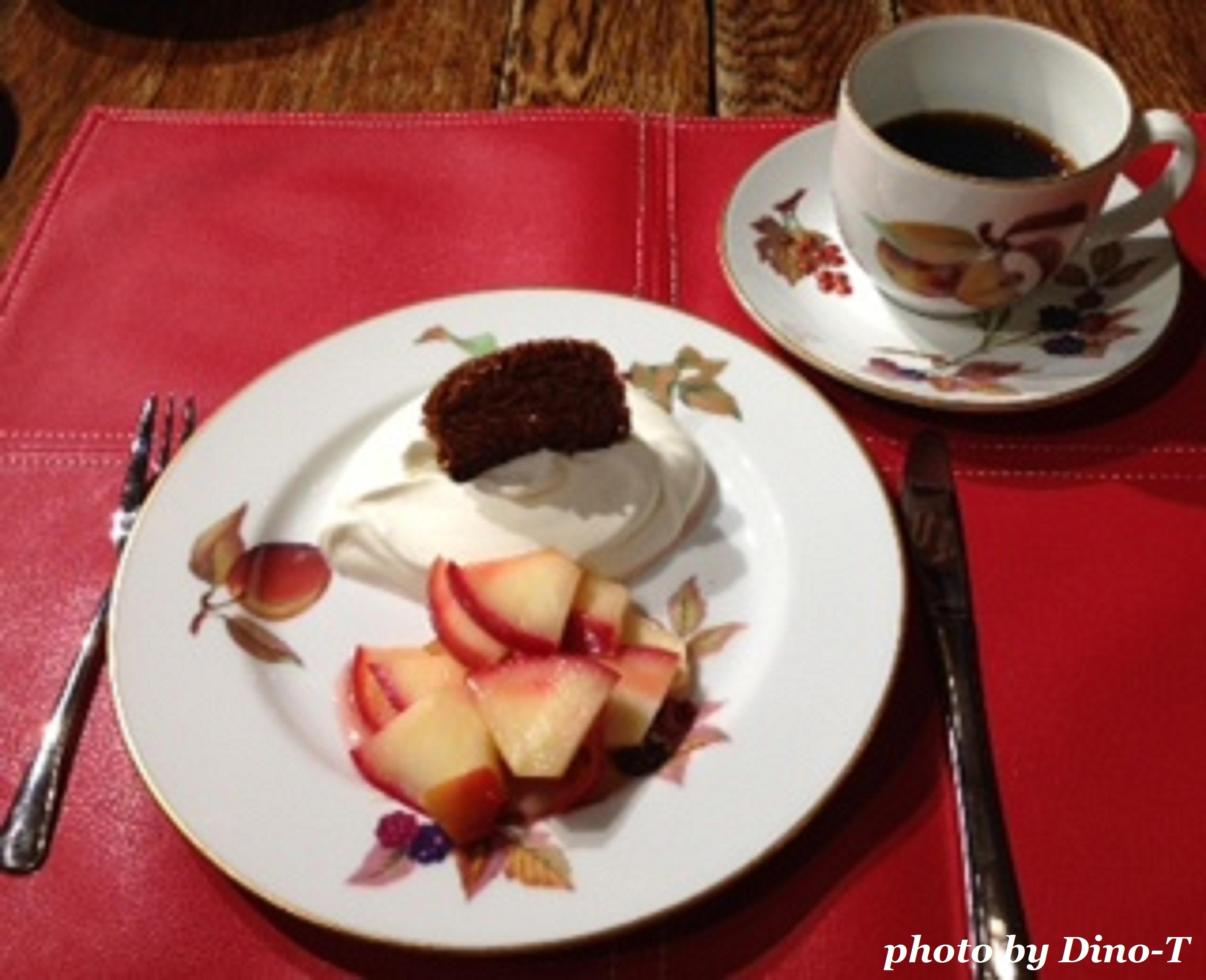 林檎とガレットのデザート1
