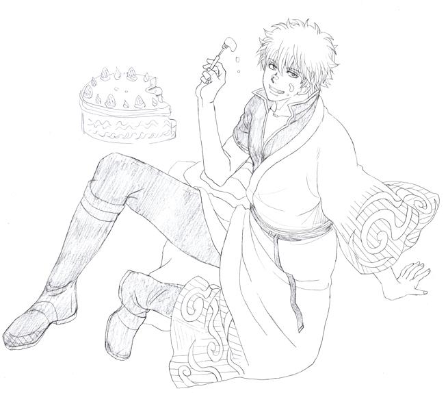 坂田銀時 ケーキ 銀魂
