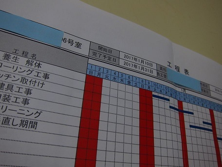 リフォーム 工程表