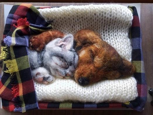 羊毛フェルト・おやすみ