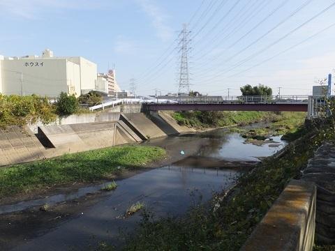 歌川大堰橋上流のゴム堰