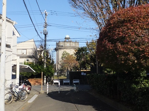 渋谷町水道みち・駒沢給水塔