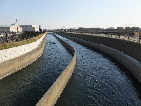 赤城橋より武蔵水路下流を望む