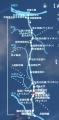 武蔵水路経路図、施設図