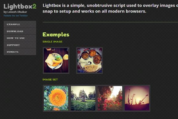 クリックするとウインドウ内で画像が拡大する「Lightbox2」の設置手順