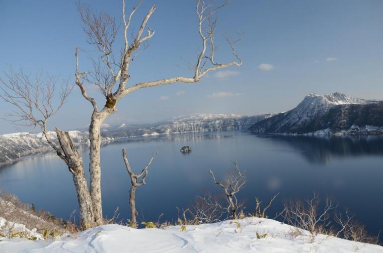 摩周湖でスノーシュー