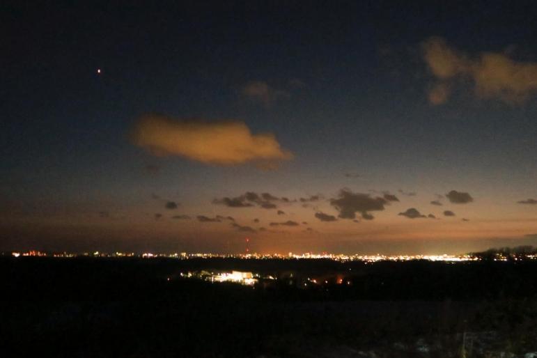 高台から釧路市内方面