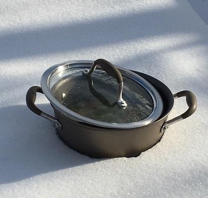 鍋ごと冷やす