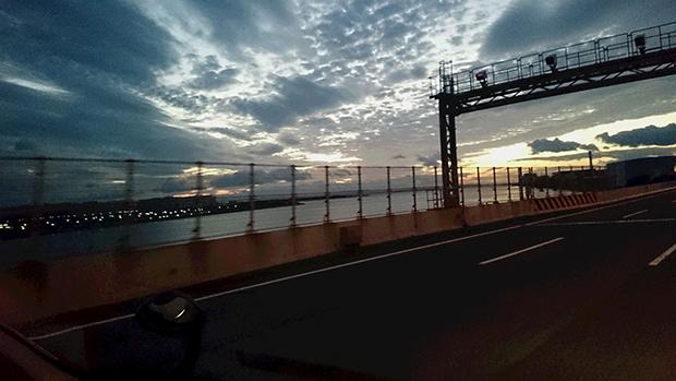 大阪湾夕日