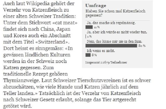 スイス 猫肉