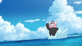 水上を走るキテルグマ