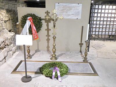 クリプタにあるブルネレスキのお墓