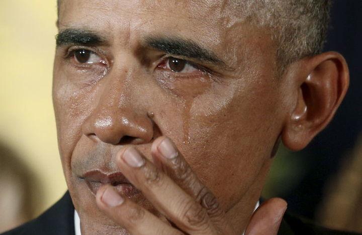 2017 オバマ大統領 オバマ大統領がテレビ演説で涙 2016年1月6日