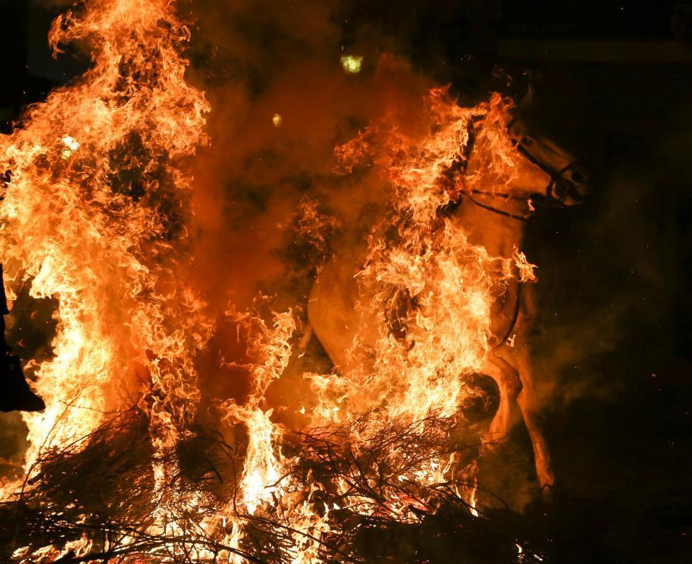 2017 lu 「ルミナリアス」 h 炎の中を馬が駆け抜ける