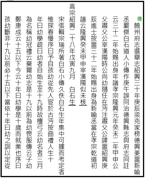 00 a a b 遼海叢書 第54冊 白石道人年譜a