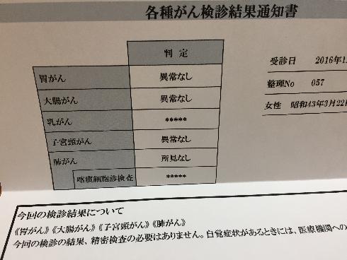 平成28年がん検診