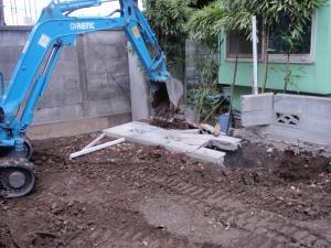 境界ブロック塀解体撤去工事 :エクステリア横浜(神奈川県・東京都の外構工事専門店)