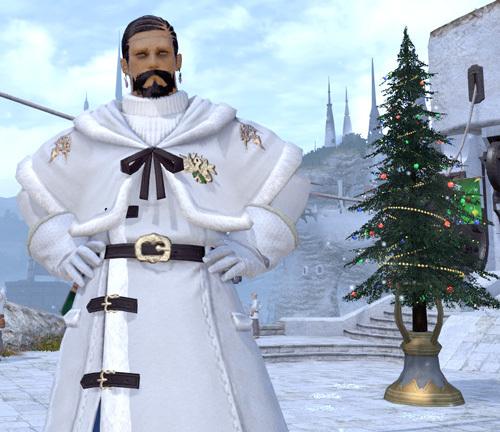 ヒゲランダー白サンタ服