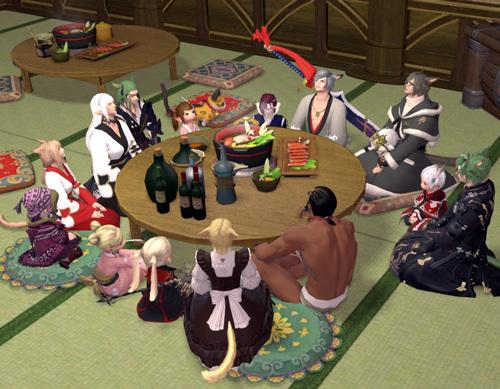 円を囲む参加者
