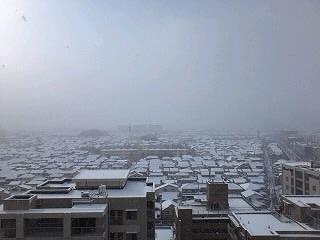 雪積もった景色