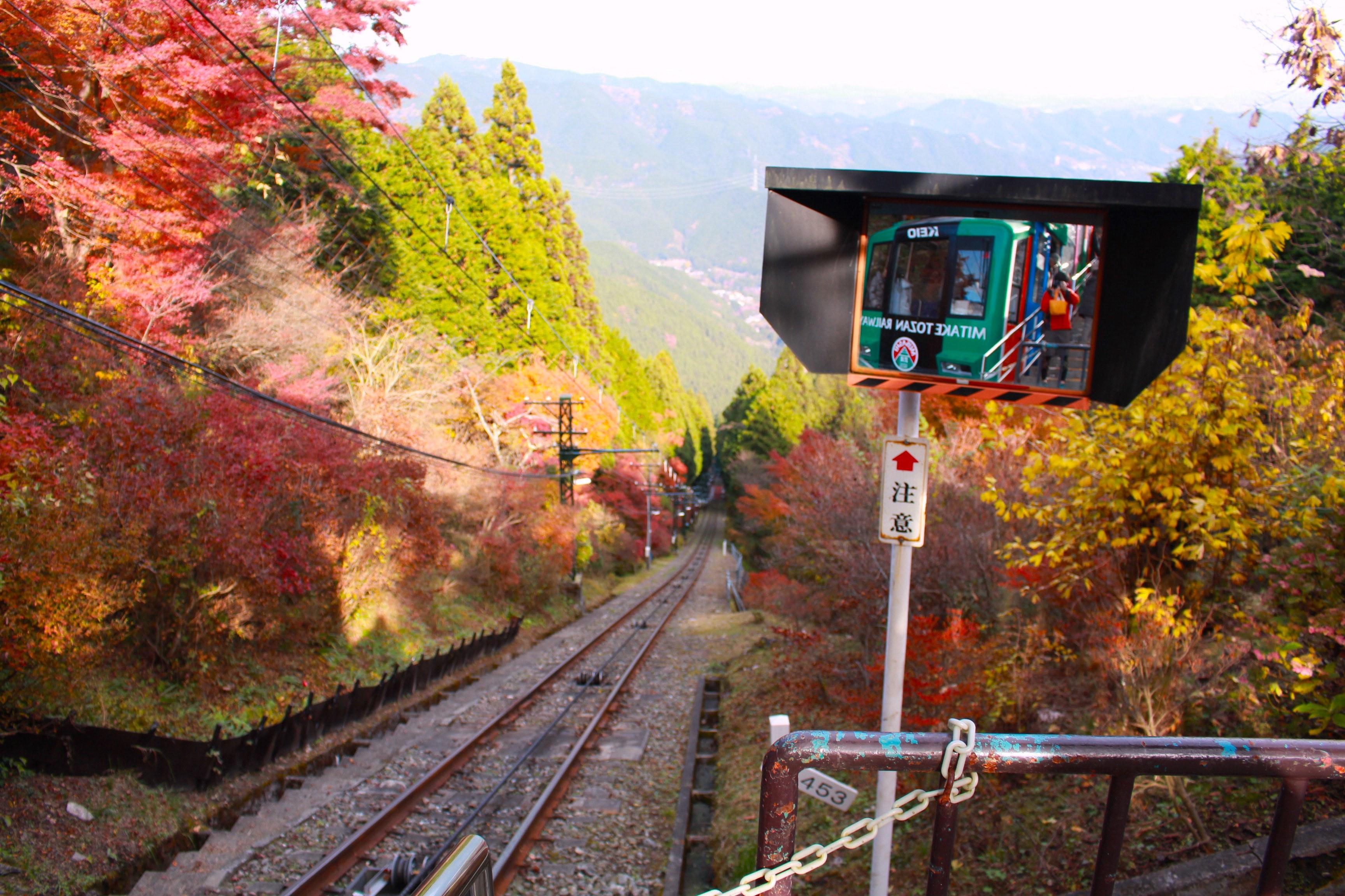 20161117御岳山ケーブルカー行き