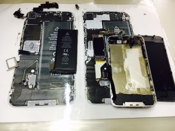 iPhone4ガラス割れ