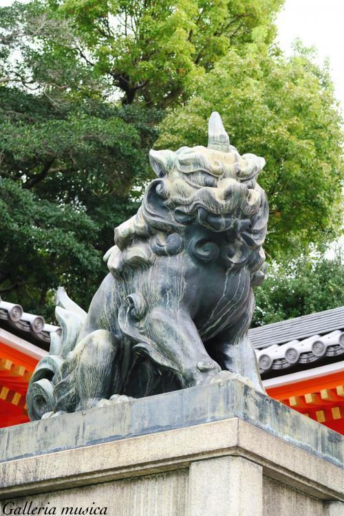 八坂神社 狛犬。1