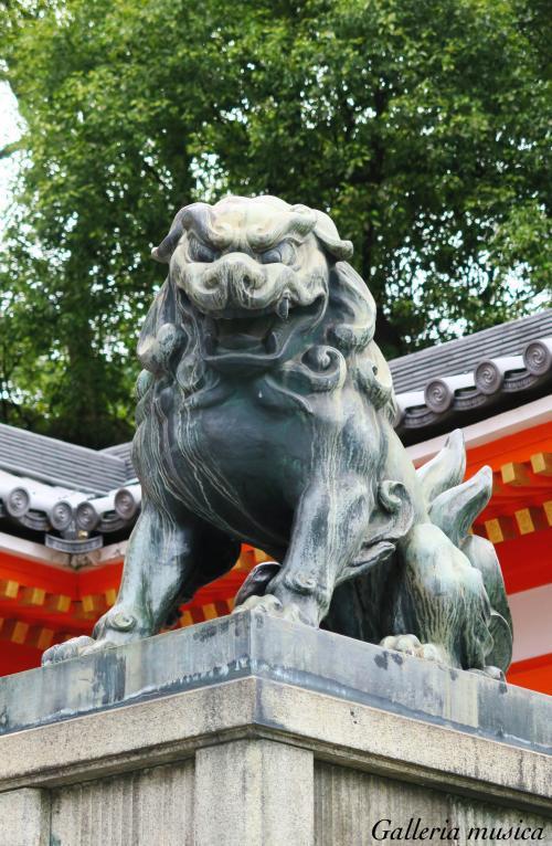八坂神社 狛犬。