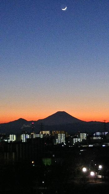大晦日の富士