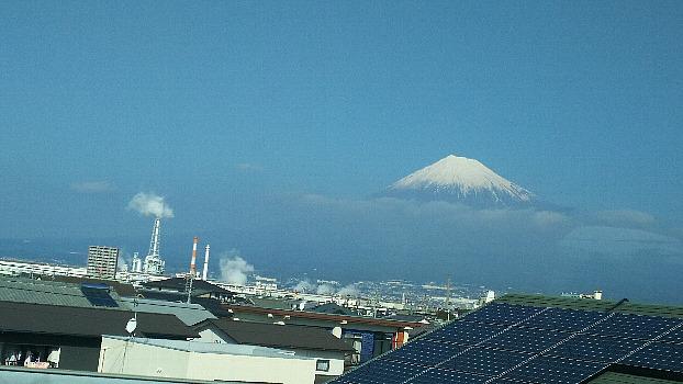 車窓からの富士