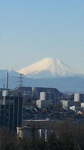 富士のアップ