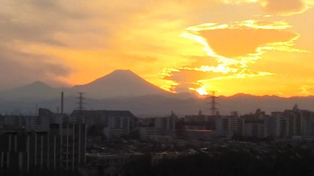 富士の夕なずみ