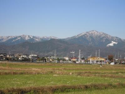 大山方面うっすらと雪161126