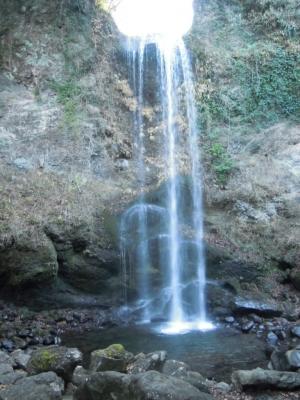 夕日の滝161220
