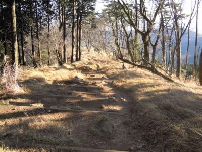 日向薬師方面への登山道170105