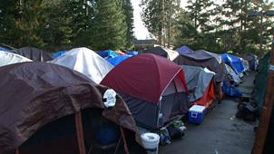 シアトルのテント村