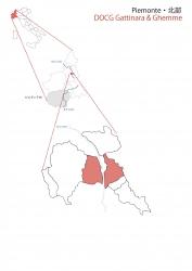 ピエモンテ北部白地図②