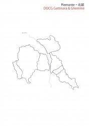 ピエモンテ北部白地図