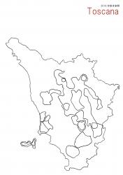 トスカーナ白地図③