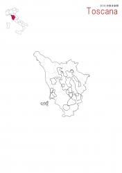 トスカーナ白地図④