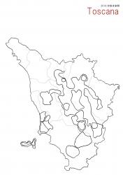 トスカーナ白地図①